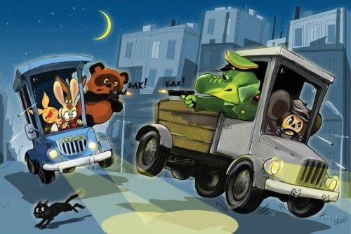 Герои мультфильмов (60 рисунков)