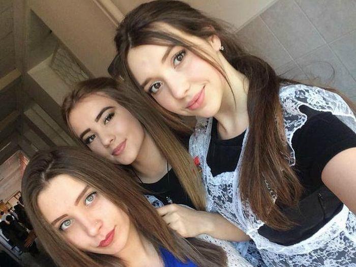 Симпатичные выпускницы-2016.